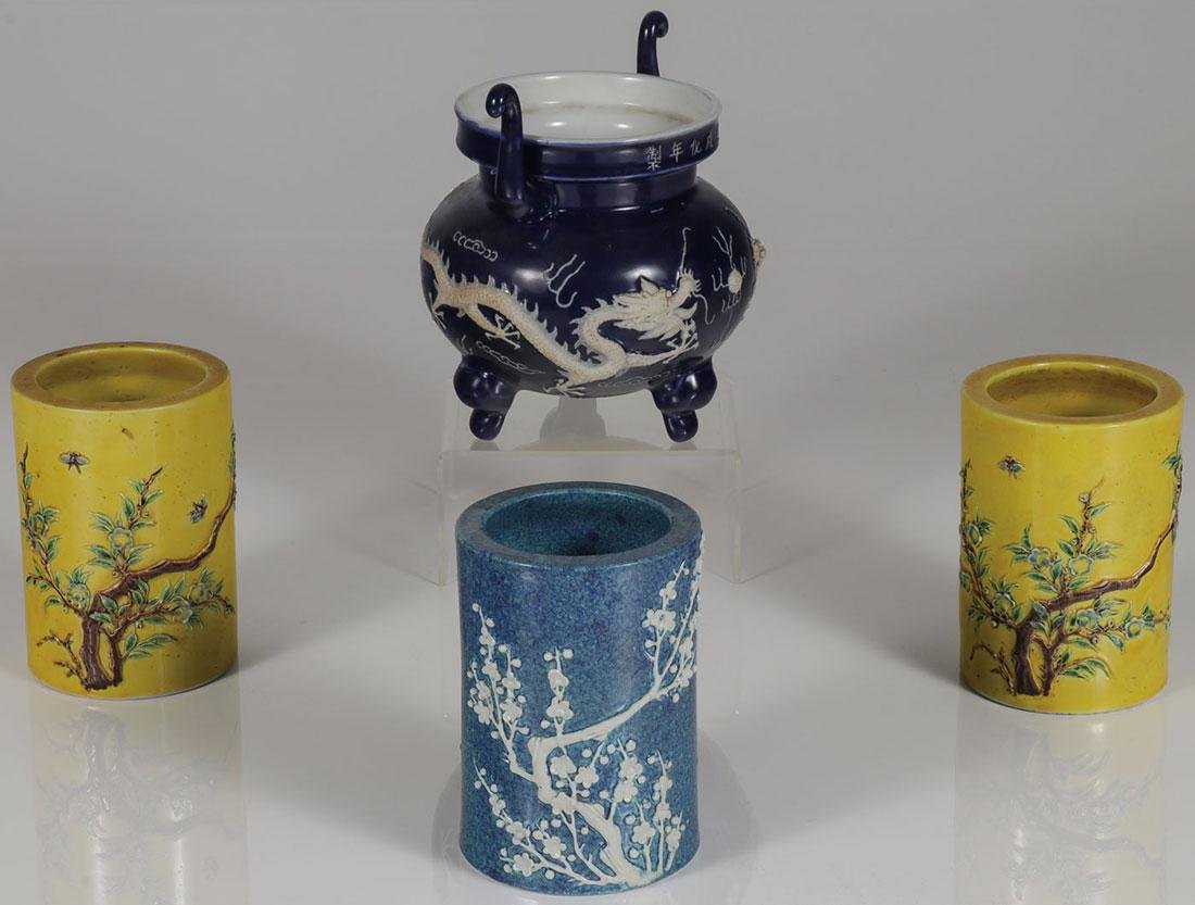 FOUR CHINESE CERAMIC VESSELS