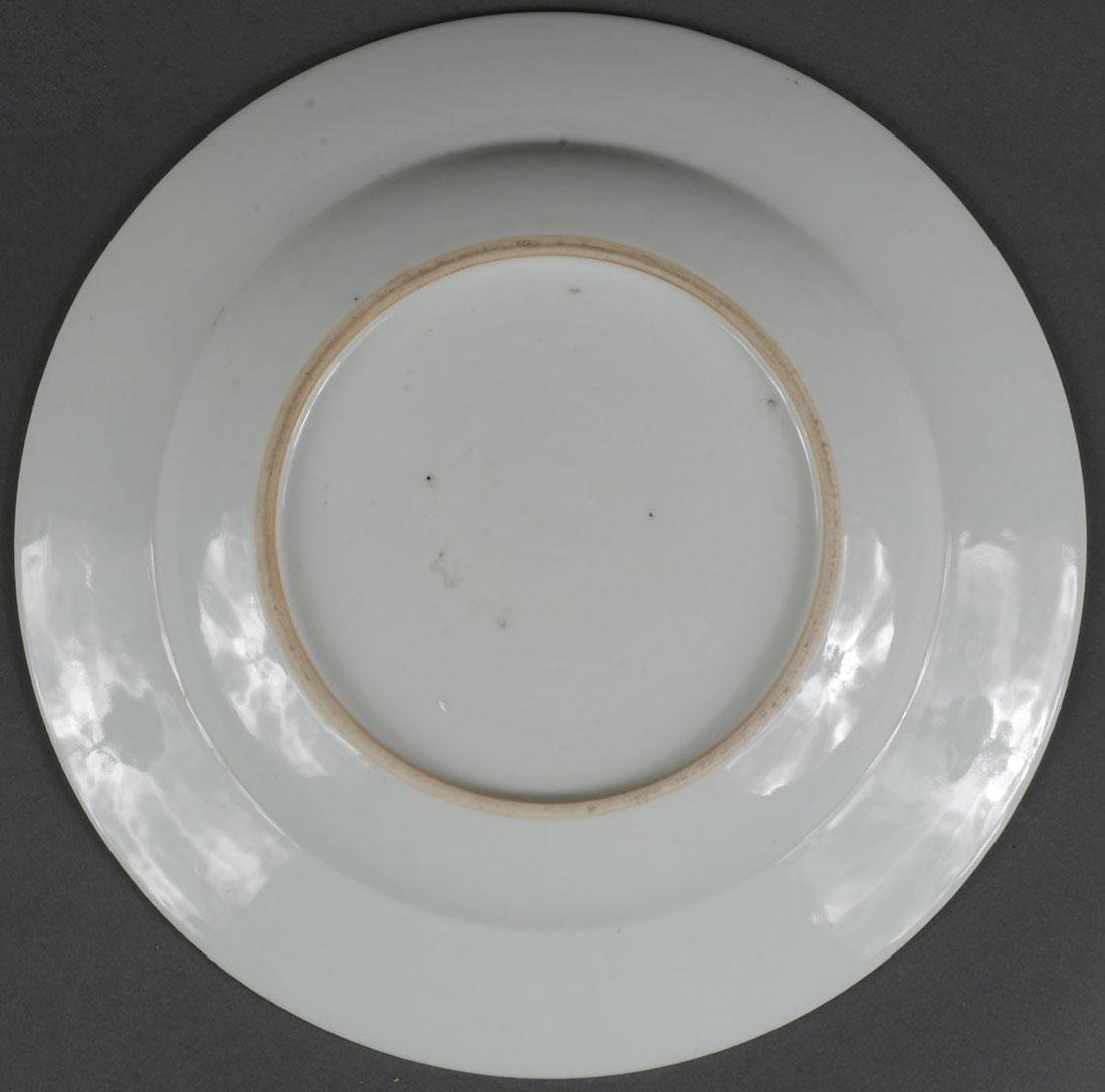 A CHINESE EXPORT WARE STYLE PLATE - 5
