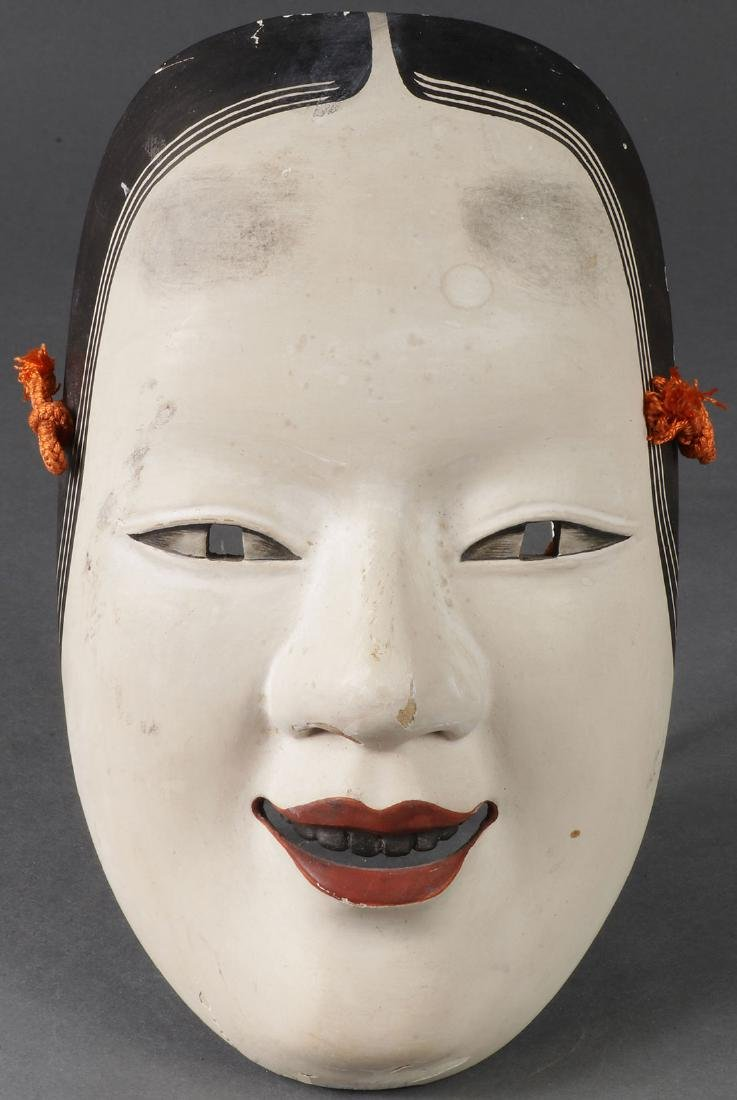 THREE JAPANESE CARVED MASKS - 5