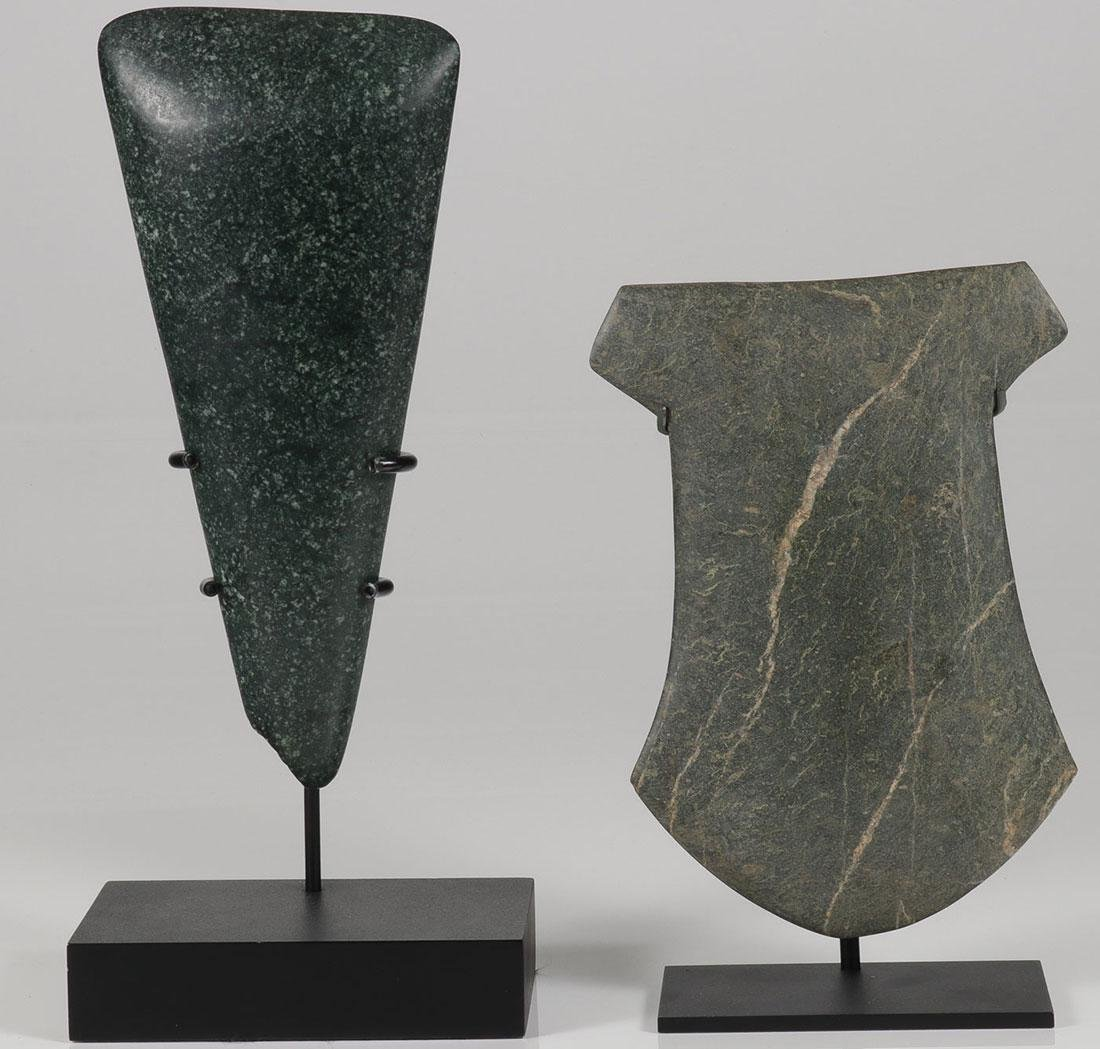 PRE-COLOMBIAN  CEREMONIAL POLISHED AX & CELT