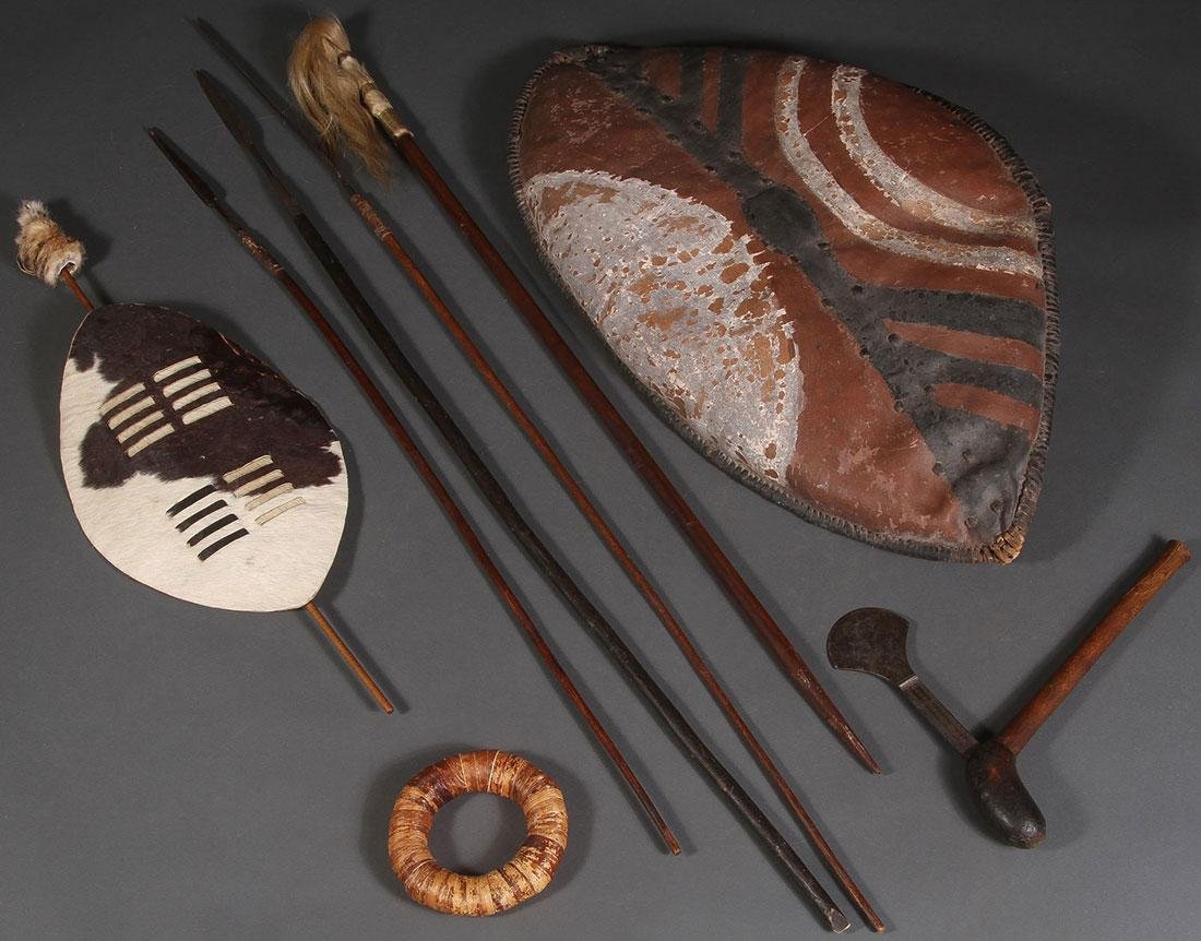 AFRICAN SPEARS AND SHIELDS