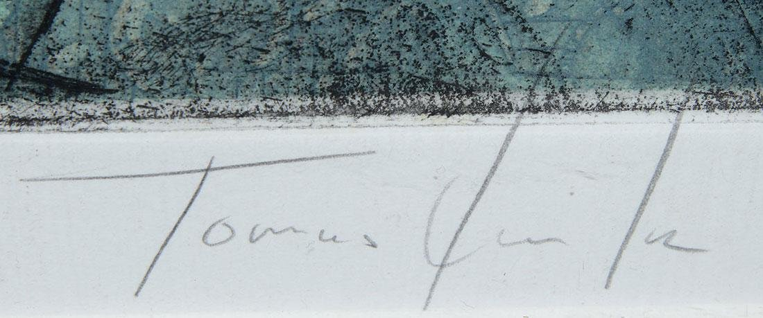 TOMAS LASANSKY COLOR ETCHING, SIGNED - 3