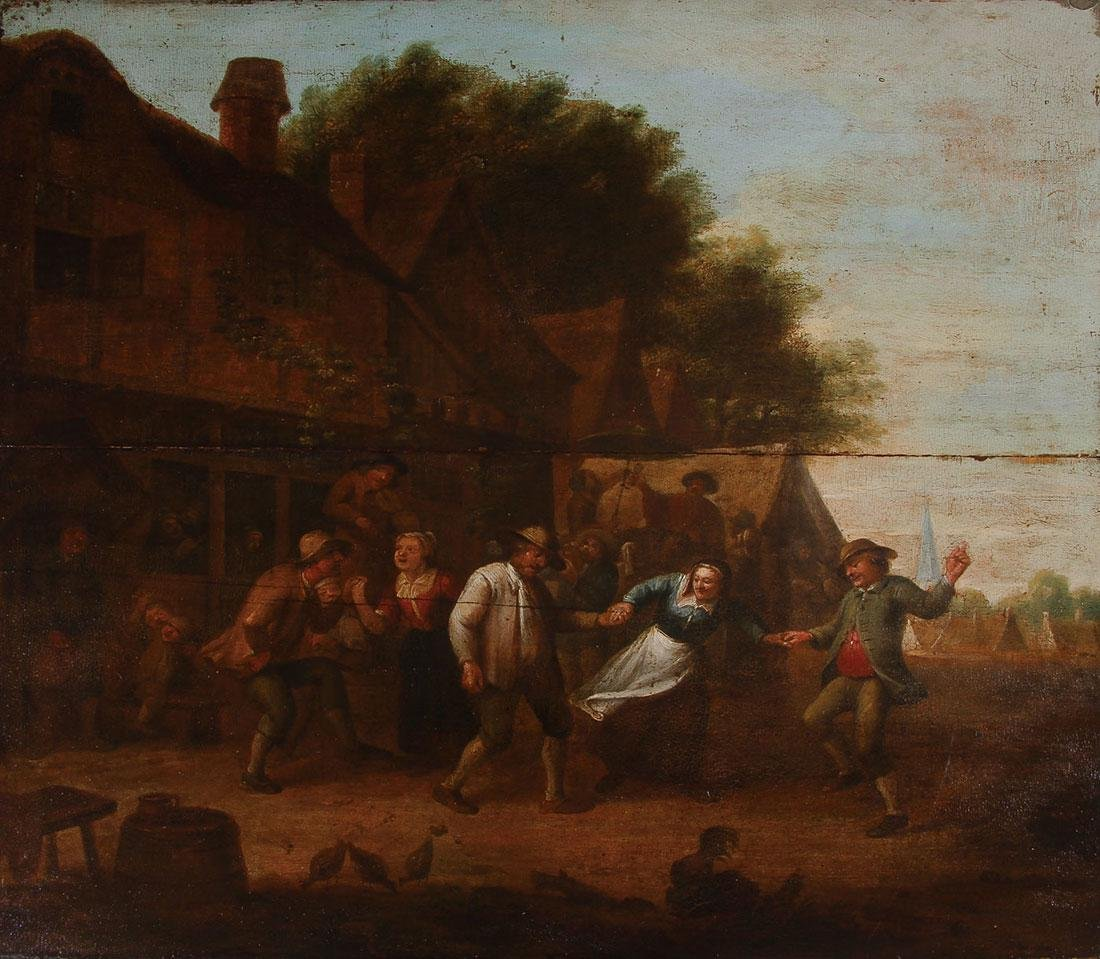 GOOD DUTCH OLD MASTER PAINTING ON WOOD C. 1650