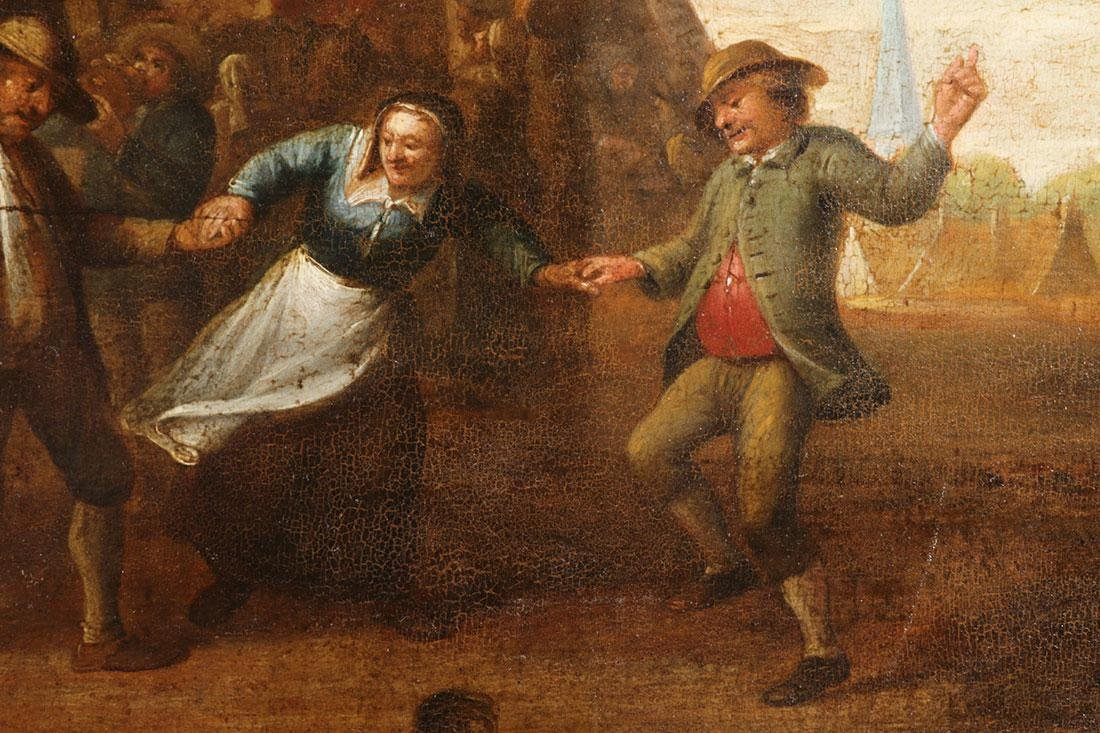 GOOD DUTCH OLD MASTER PAINTING ON WOOD C. 1650 - 3