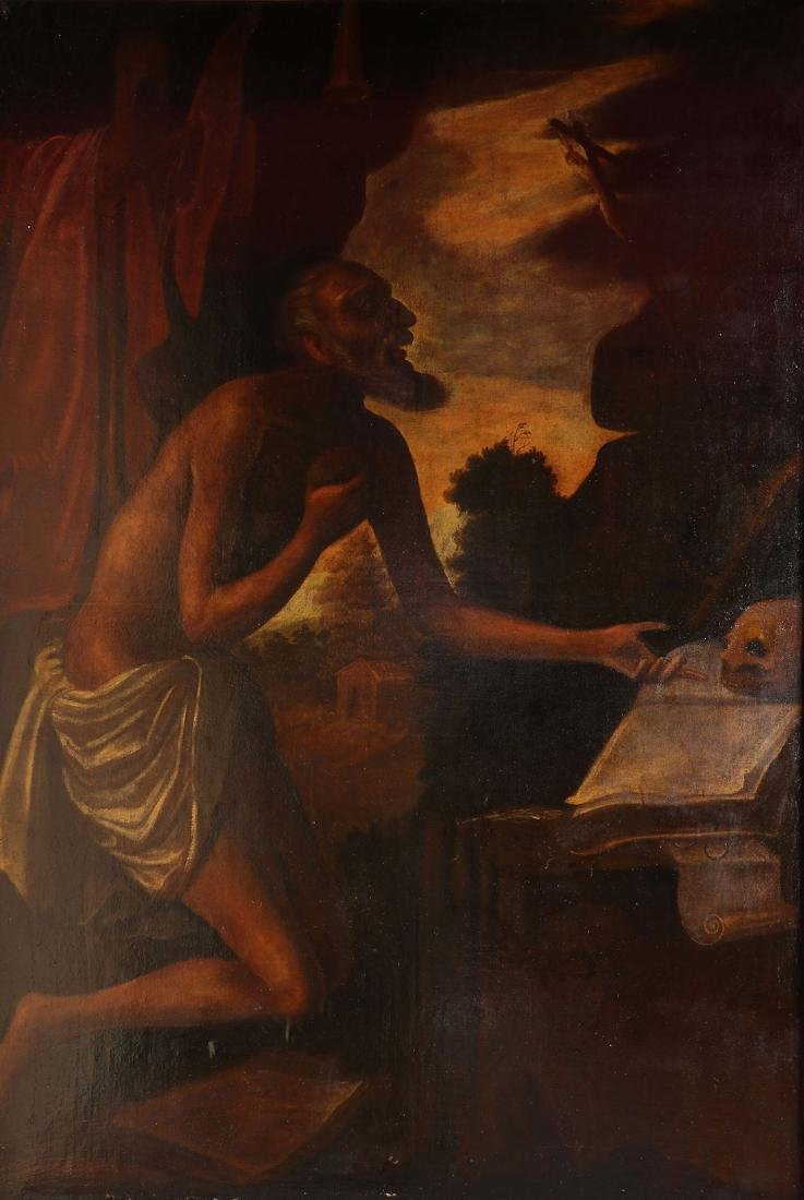 LARGE OLD MASTER OIL ON CANVAS PAINTING 17TH/18TH C.