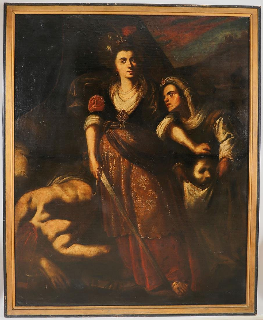 LARGE OLD MASTER PAINTING OF JUDITH C1650