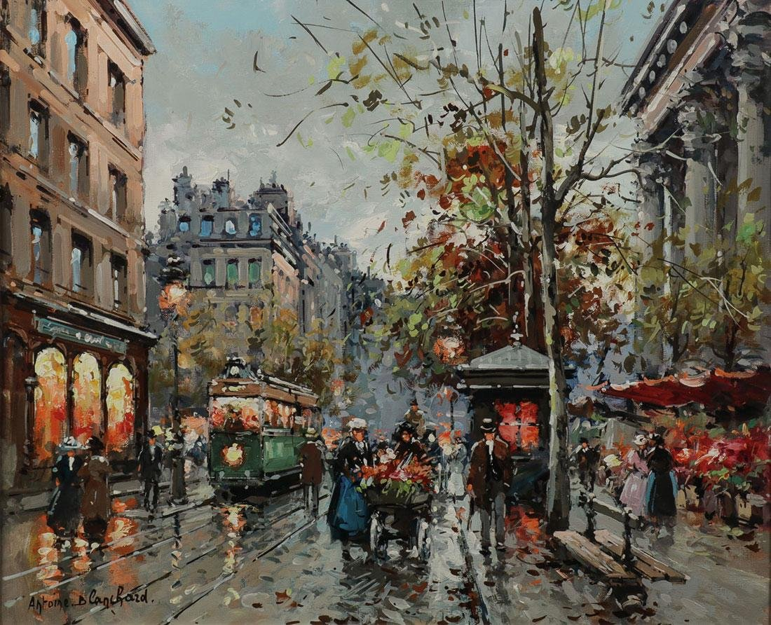 ORIGINAL ANTOINE BLANCHARD PARIS PAINTING