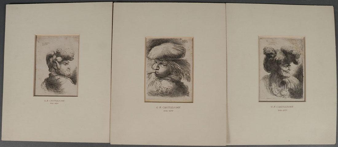 THREE OLD MASTER ETCHINGS, CIRCA 1648