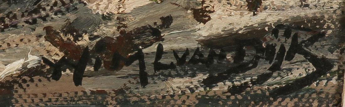 DUTCH WINTER CANAL LANDSCAPE, ARTIST SIGNED - 3