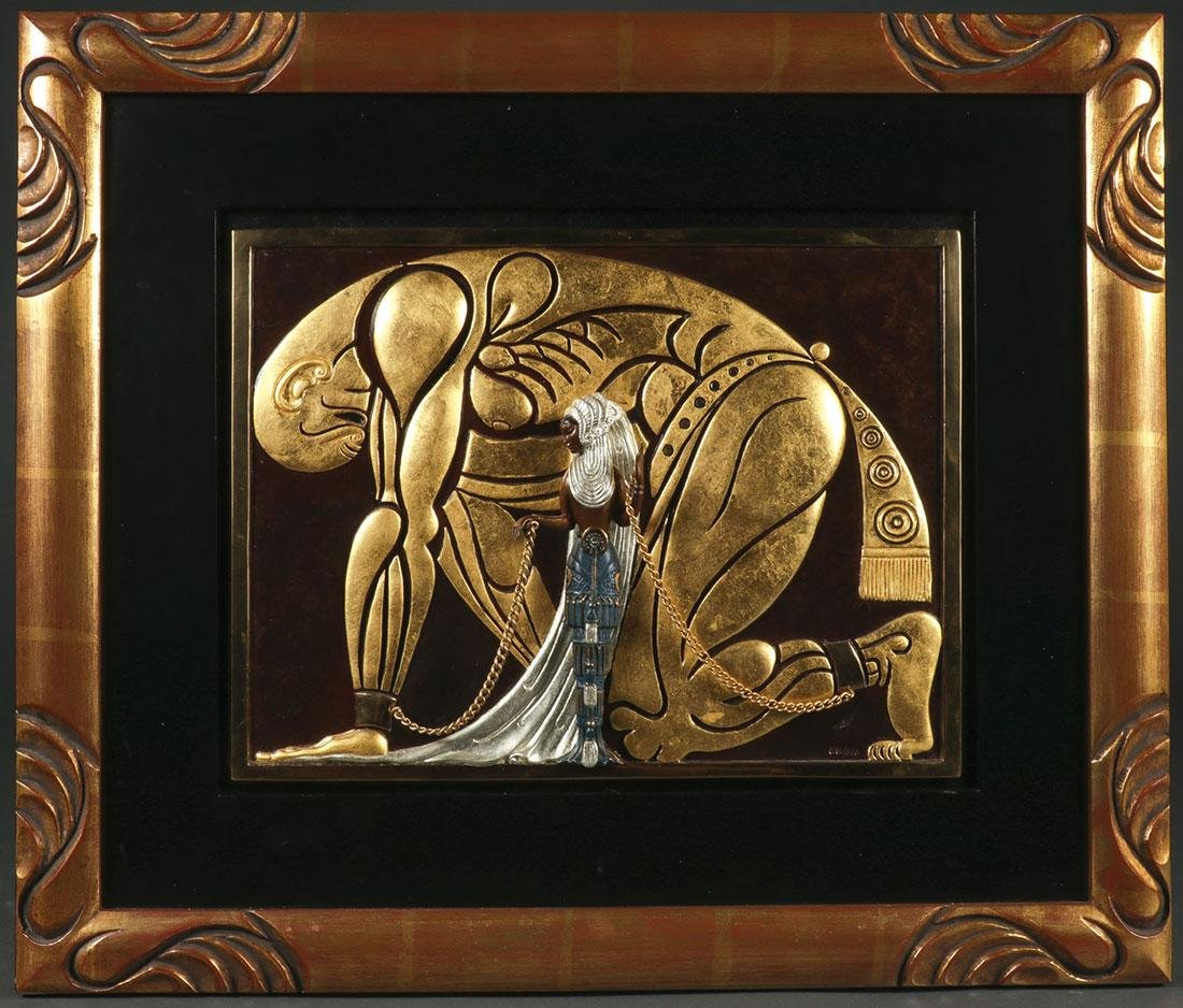 ERTE (ROMANIAN 1892 -1990) BRONZE PLAQUE