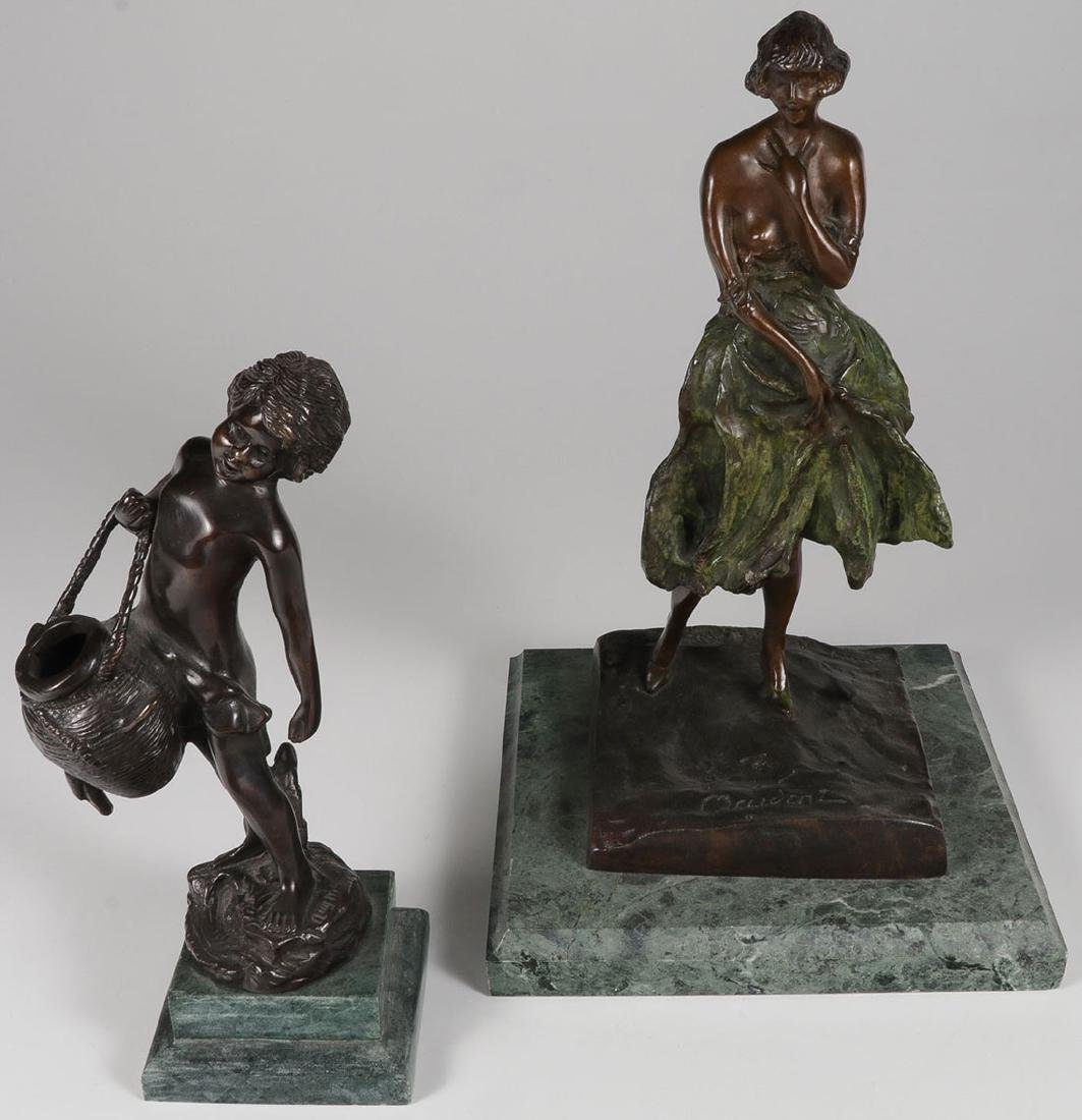 A GROUP OF THREE BRONZES