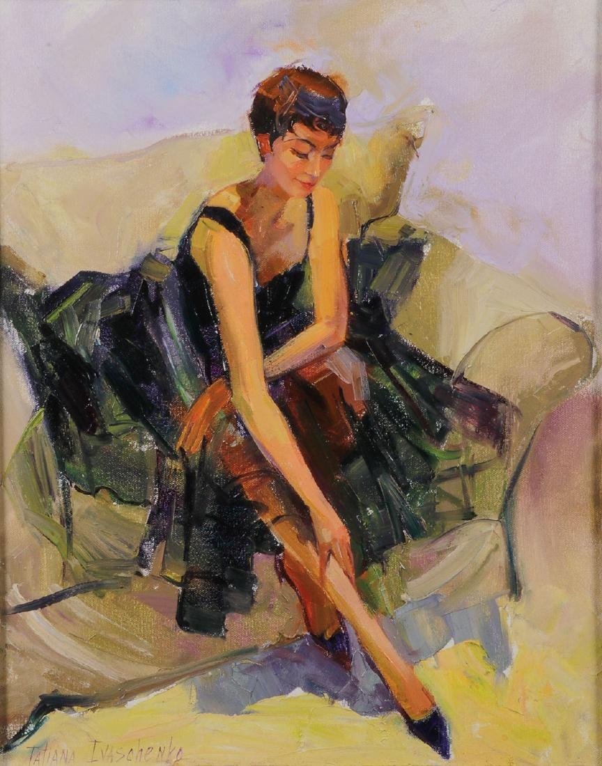 RUSSIAN PAINTING OF TANGO DANCER SIGNED