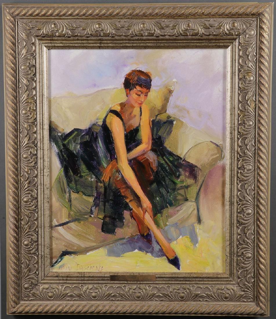 RUSSIAN PAINTING OF TANGO DANCER SIGNED - 2