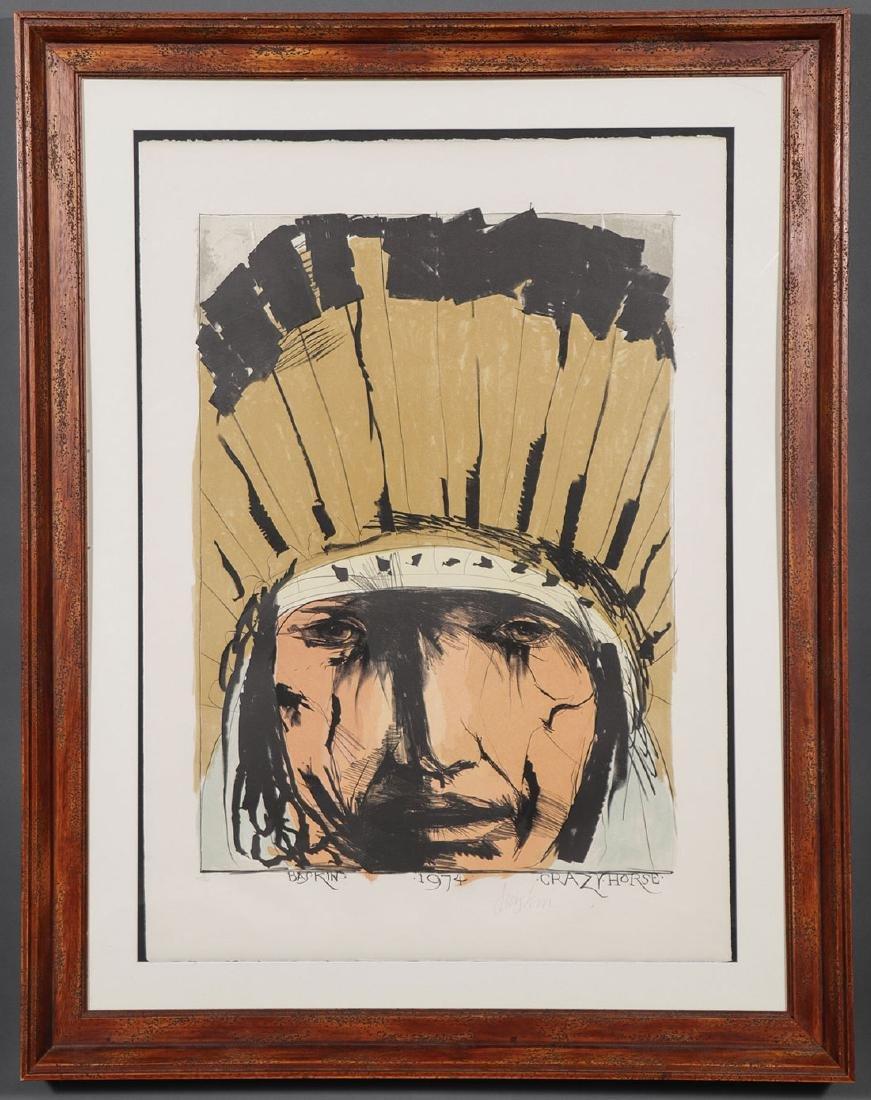 LEONARD BASKIN (AMERICAN 1922-2000) CRAZY HORSE - 2