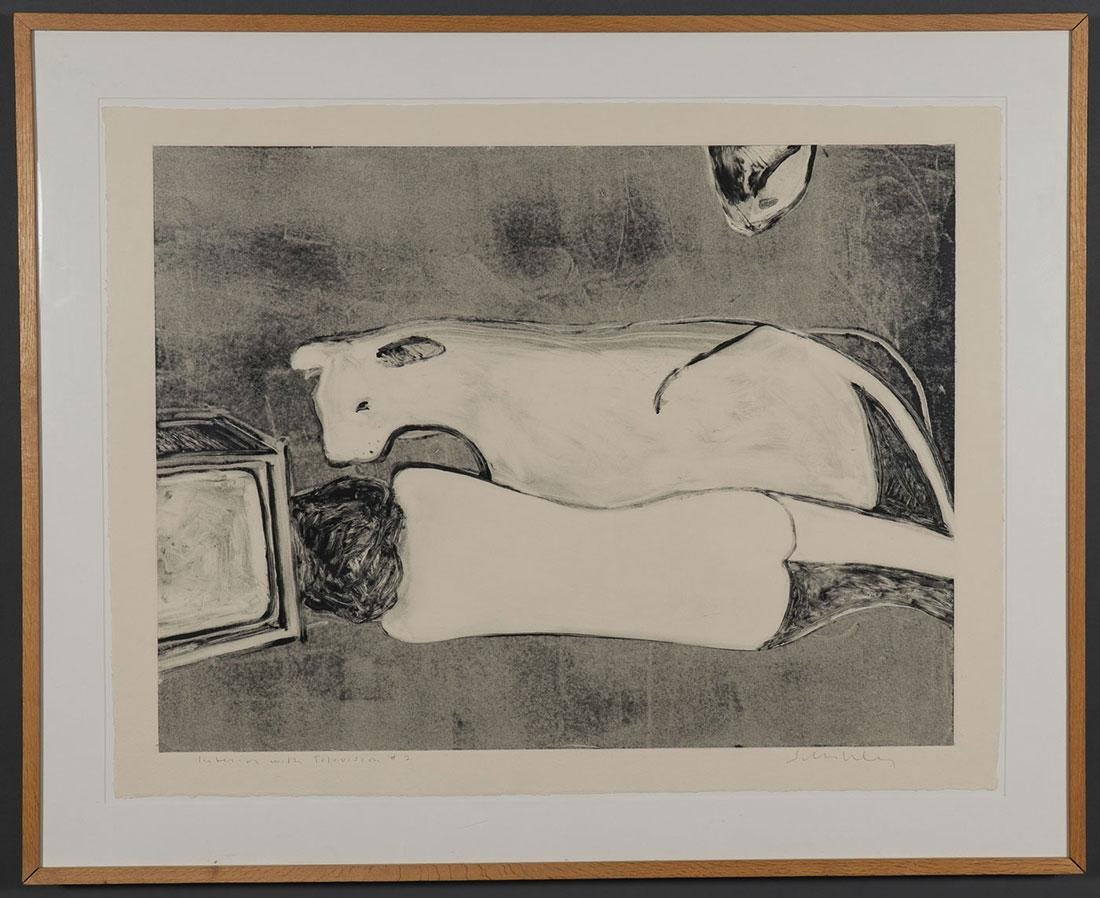 SIGNED FRITZ SCHOLDER LITHOGRAPH - 2