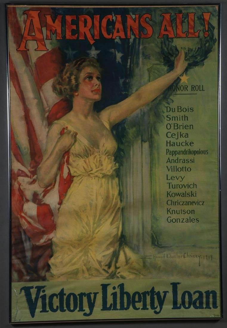 A PAIR OF ORIGINAL WWI LIBERTY LOAN POSTERS