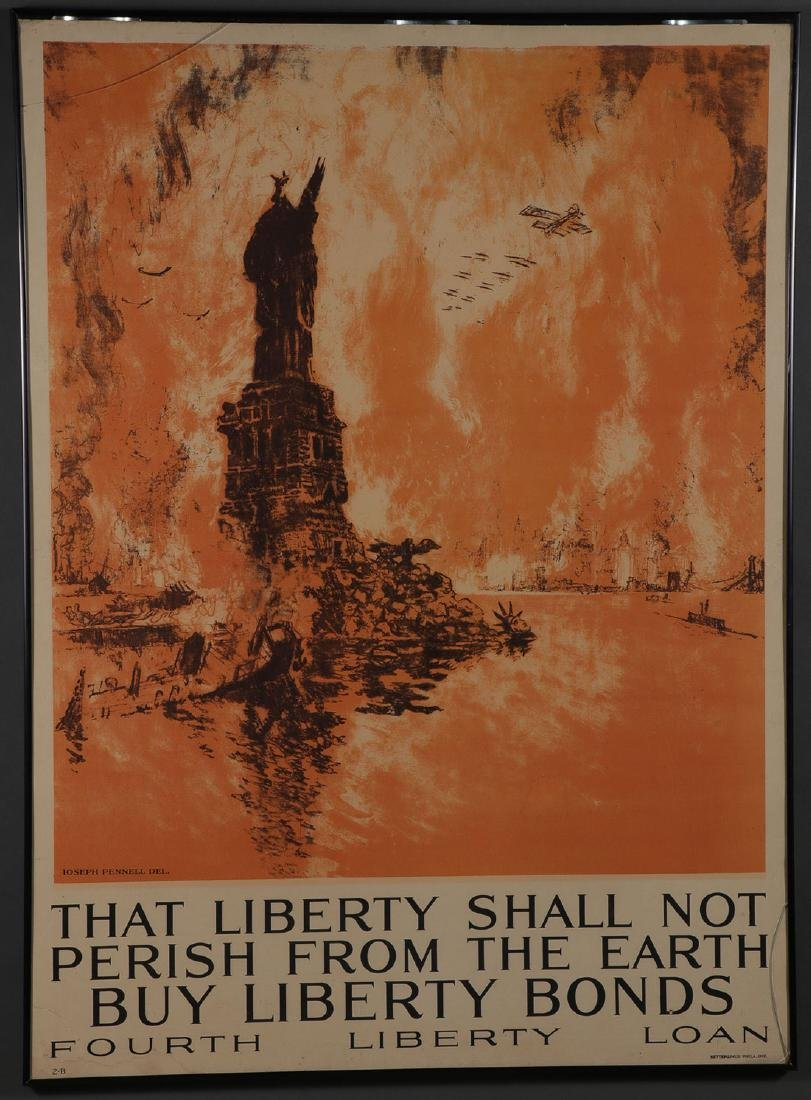 A PAIR OF ORIGINAL WWI LIBERTY LOAN POSTERS - 2