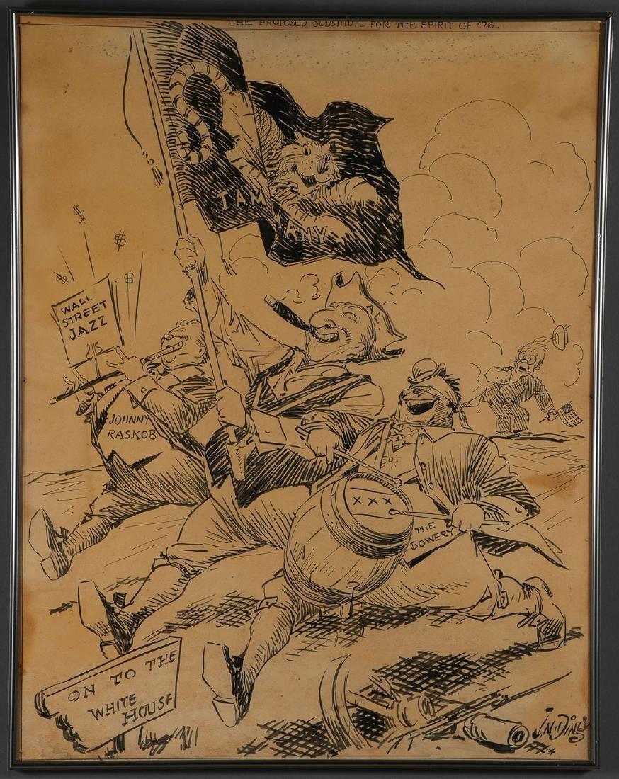 JAY 'DING' DARLING-ORIGINAL CARTOON ARTWORKS