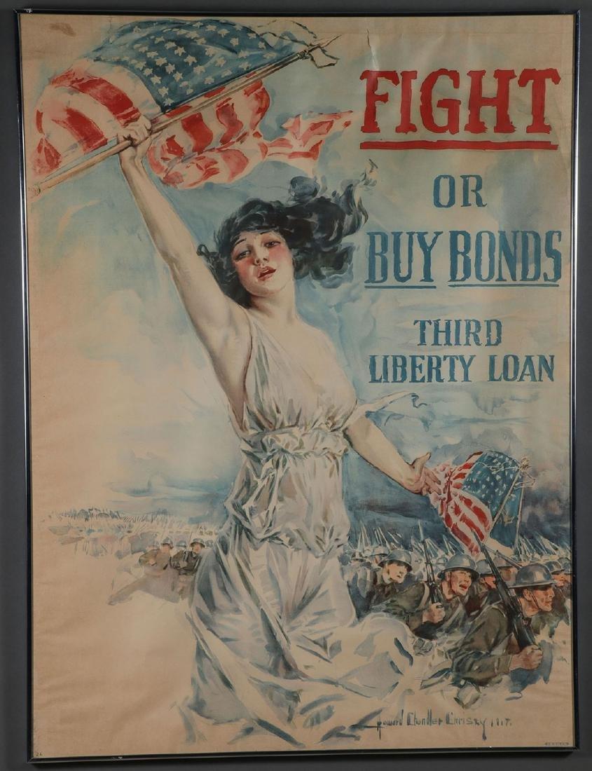 THREE ORIGINAL AMERICAN WWI LIBERTY LOAN POSTERS