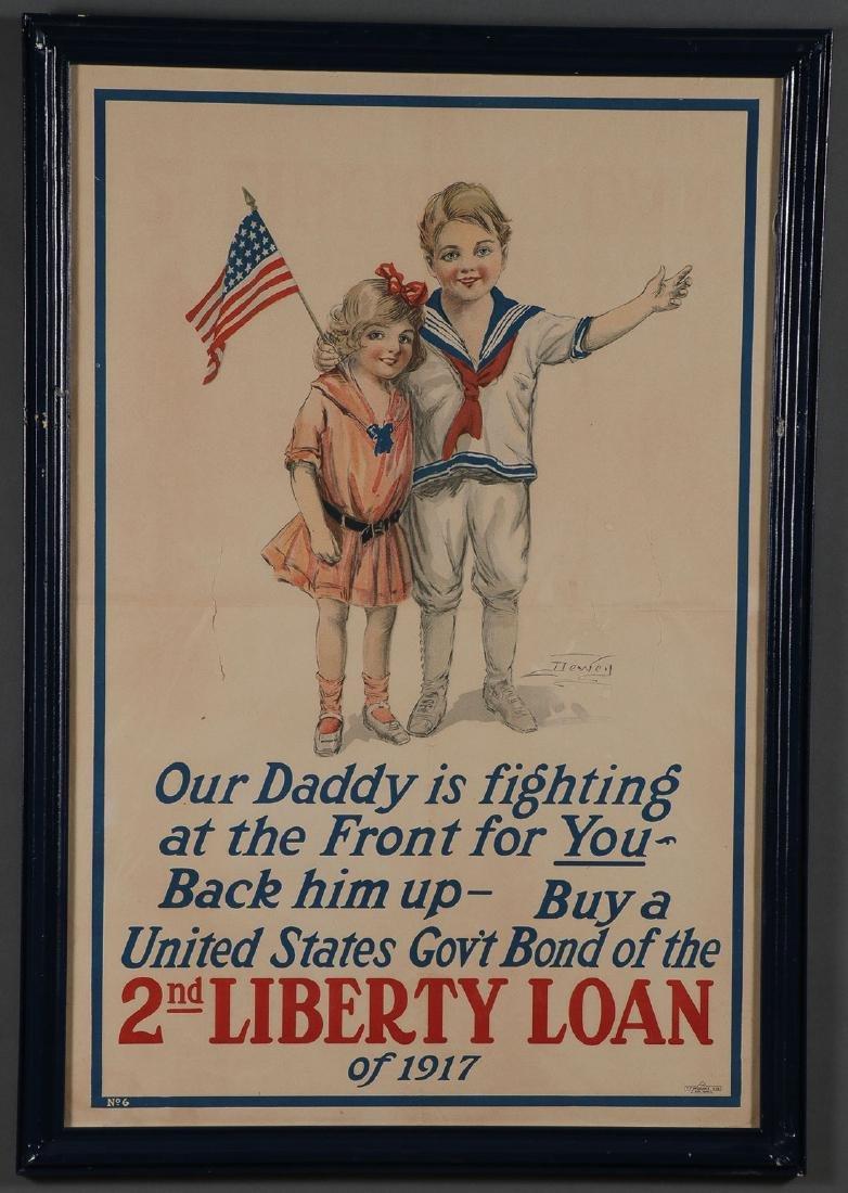 THREE ORIGINAL AMERICAN WWI LIBERTY LOAN POSTERS - 3
