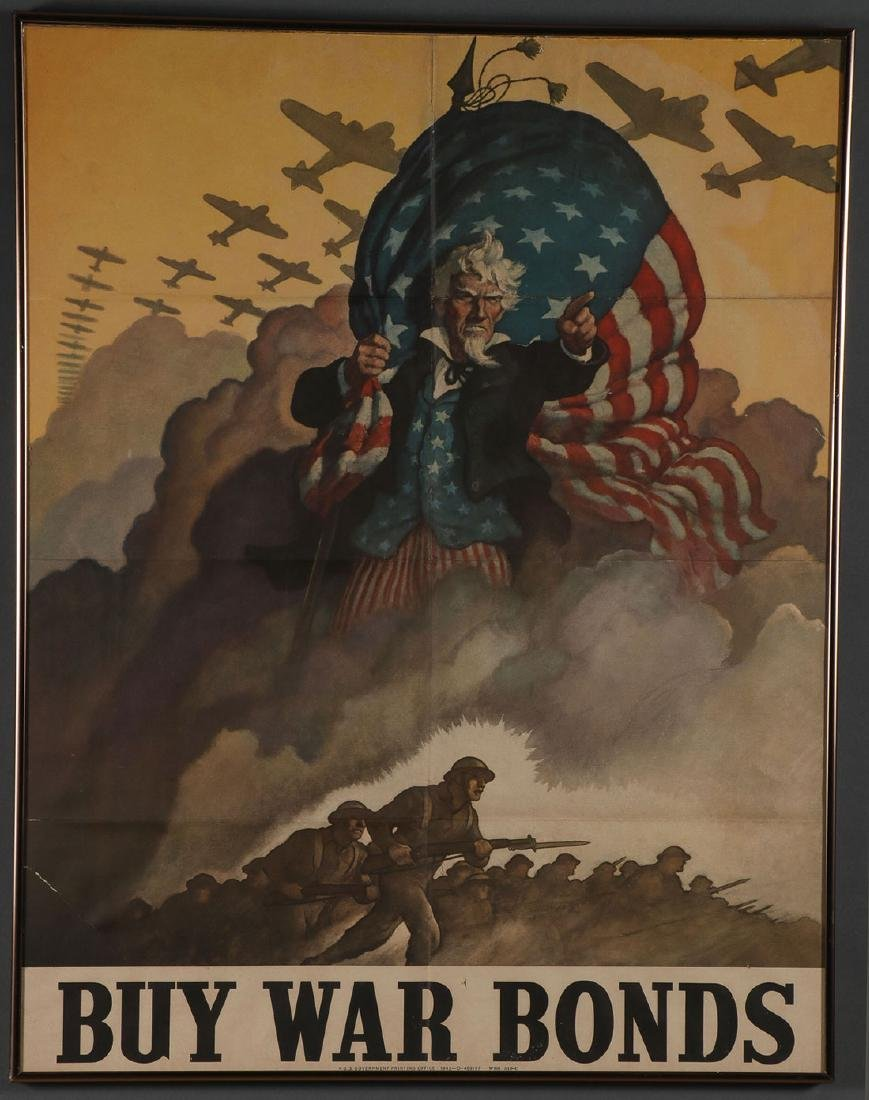 FOUR ORIGINAL AMERICAN WWII BOND POSTERS