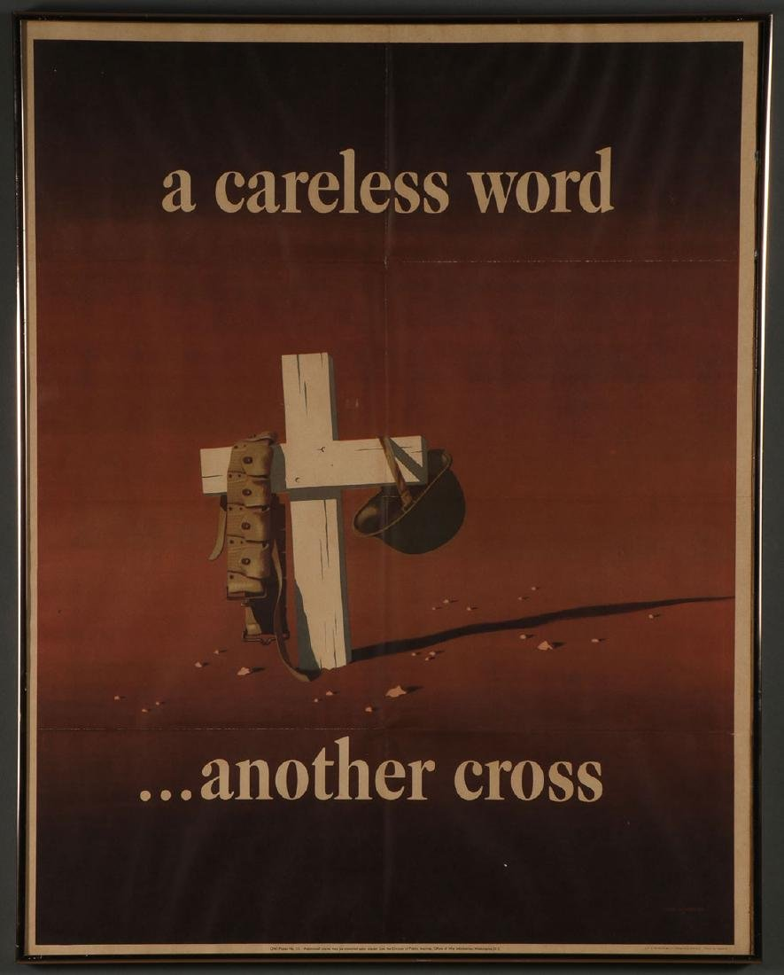 FIVE ORIGINAL WWII POSTERS