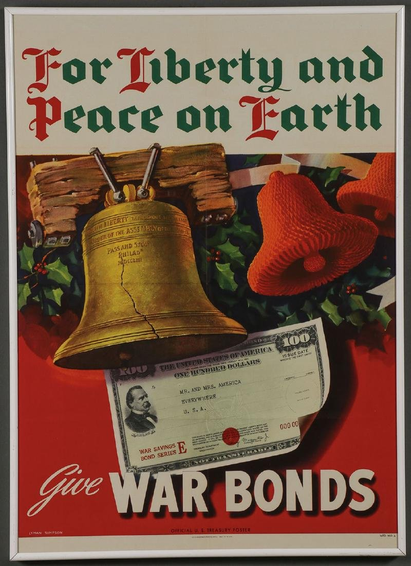FIVE ORIGINAL WWII POSTERS - 3
