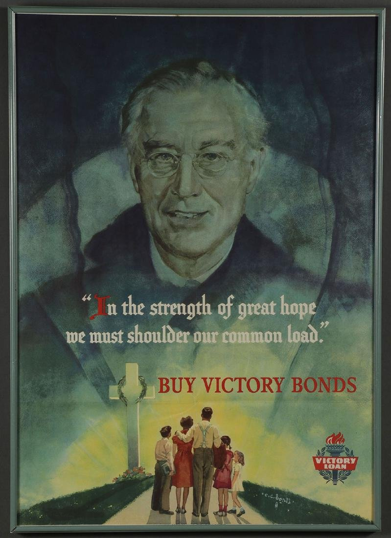 FIVE ORIGINAL WWII POSTERS - 4
