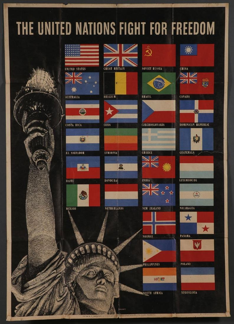 FIVE ORIGINAL WWII POSTERS - 5