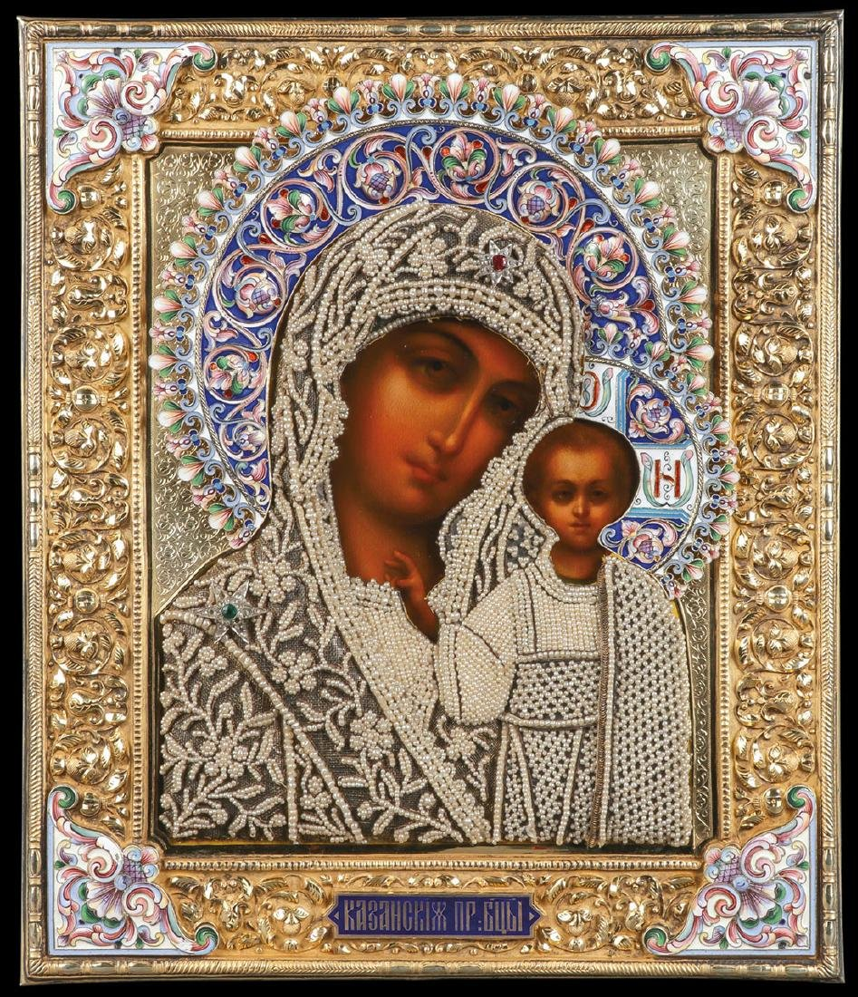 SPECTACULAR RUSSIAN ICON KURLIKOV C. 1900