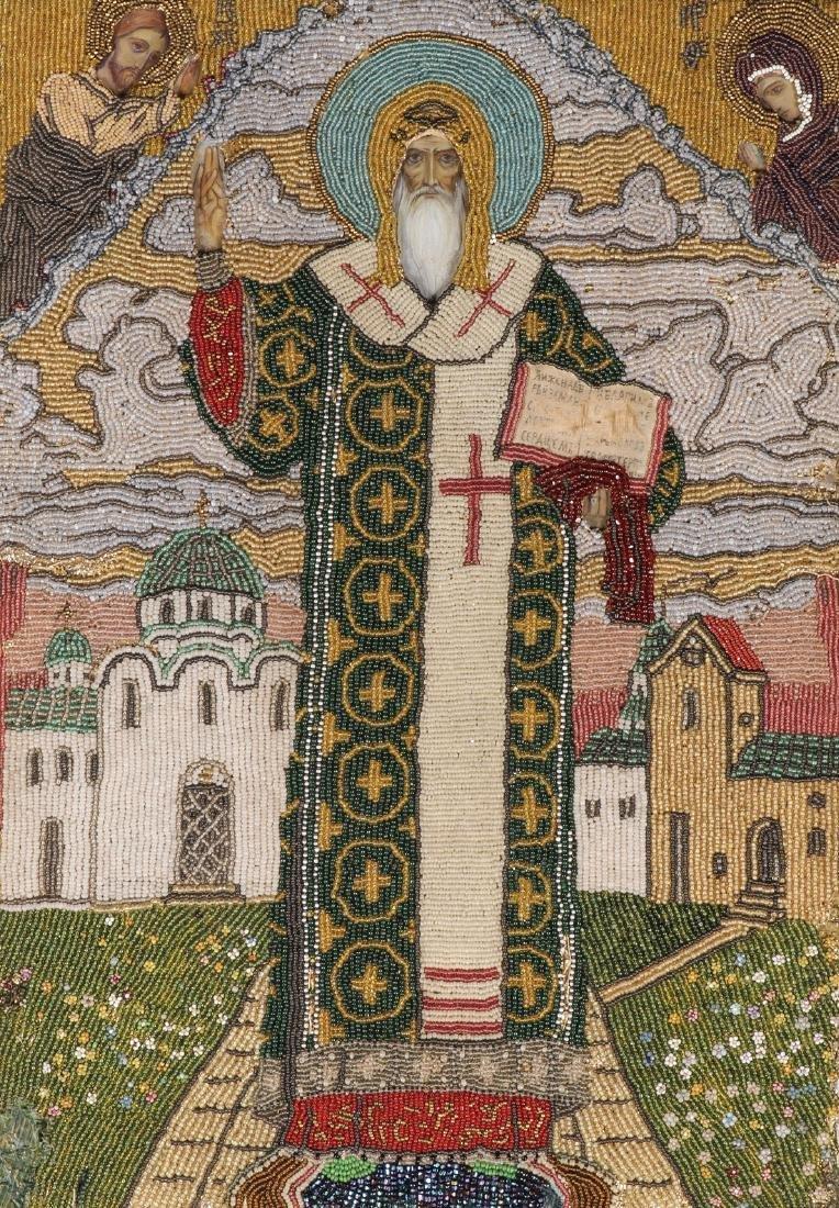FINE RUSSIAN ICON ST ALEXIS CIRCLE OF VASNETSOV