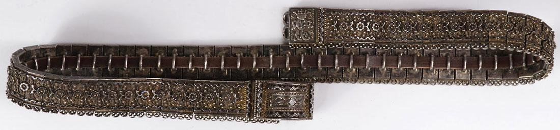 THREE IMPERIAL RUSSIAN PERIOD SILVER BELTS - 3