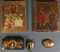 A PAIR OF RUSSIAN ICONS CIRCA 1890