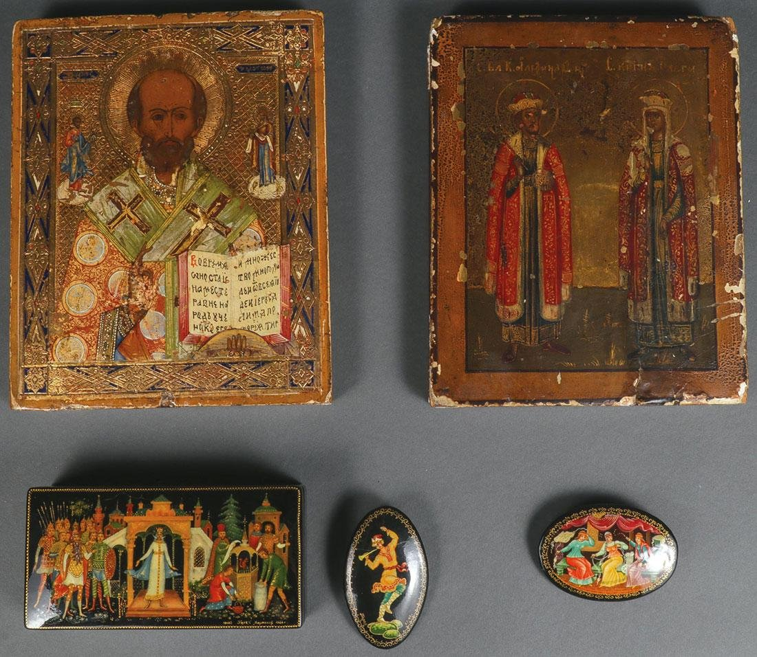 A PAIR OF RUSSIAN ICONS, CIRCA 1890