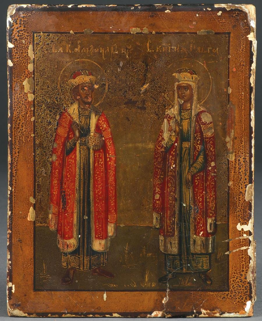 A PAIR OF RUSSIAN ICONS, CIRCA 1890 - 3