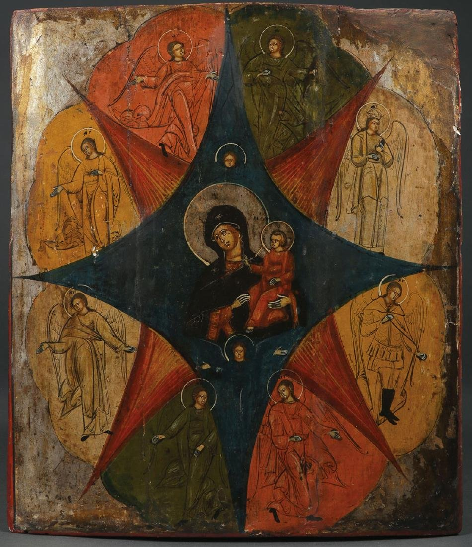 FIVE RUSSIAN ICONS, 19TH CENTURY AND LATER - 3
