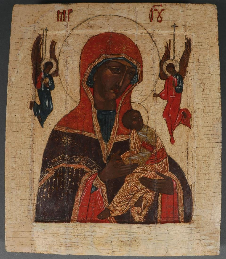 FIVE RUSSIAN ICONS, 19TH CENTURY AND LATER - 6