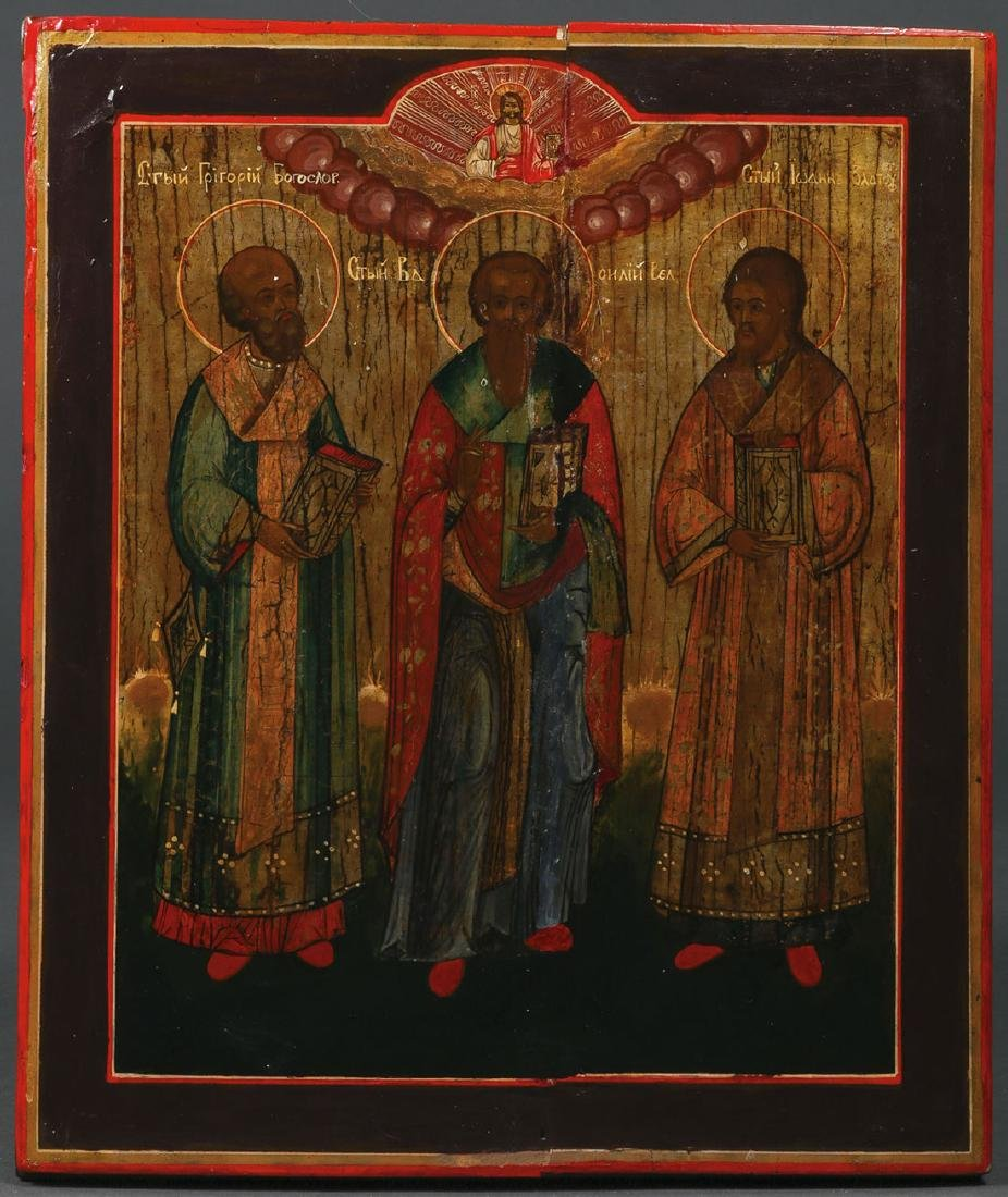 FIVE RUSSIAN ICONS, CIRCA 1800-1890 - 4
