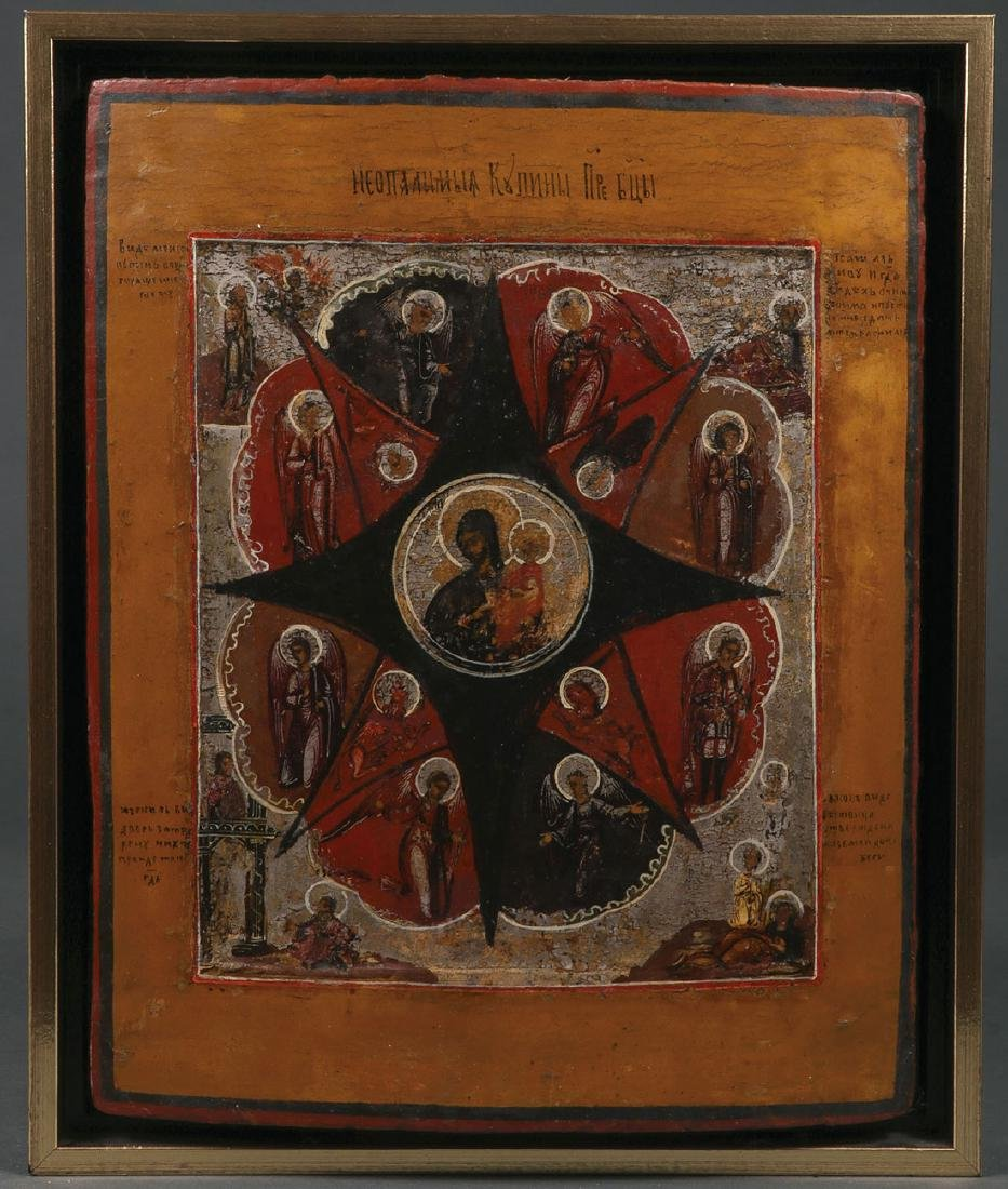 FIVE RUSSIAN ICONS, CIRCA 1800-1890 - 5