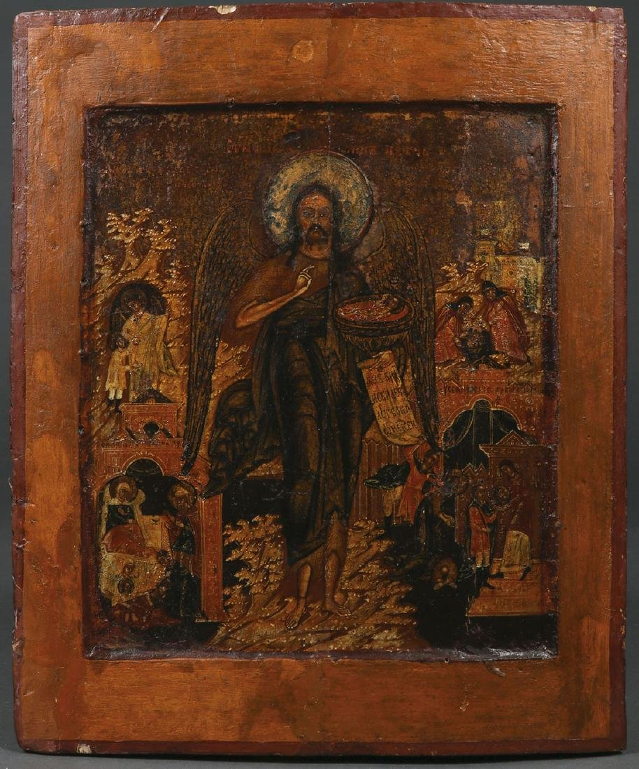 FIVE RUSSIAN ICONS, CIRCA 1800-1890 - 6