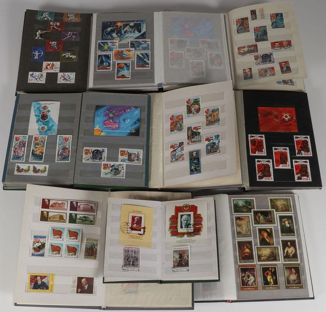 A RUSSIAN SOVIET STAMP COLLECTION