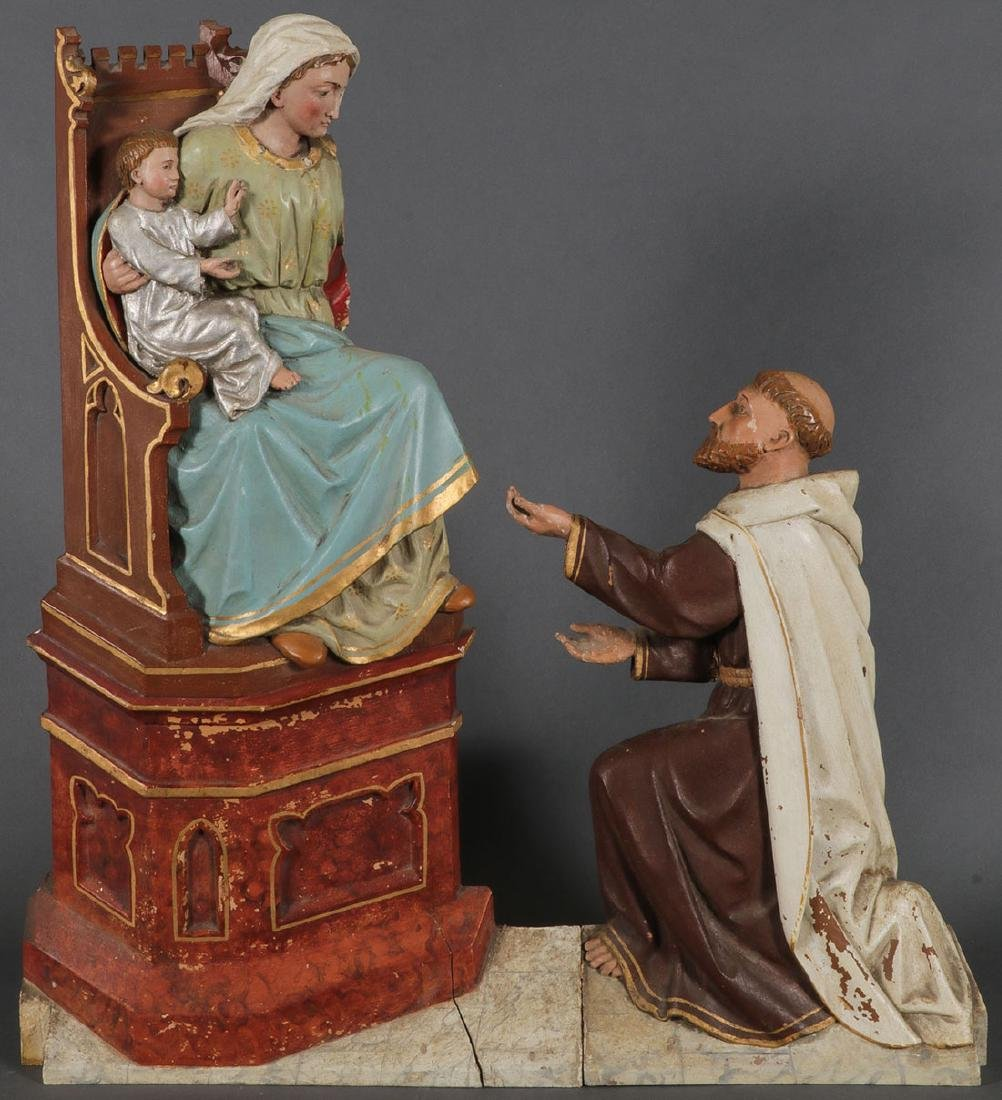 4 CARVED FIGURES FROM THE LIFE OF THE VIRGIN MARY - 4