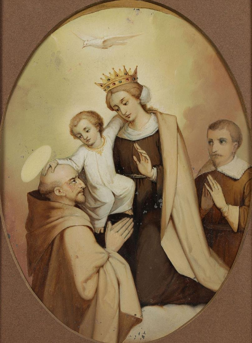 A GROUP OF 3 PAINTINGS DEPICTING SAINTS, 19TH C. - 2