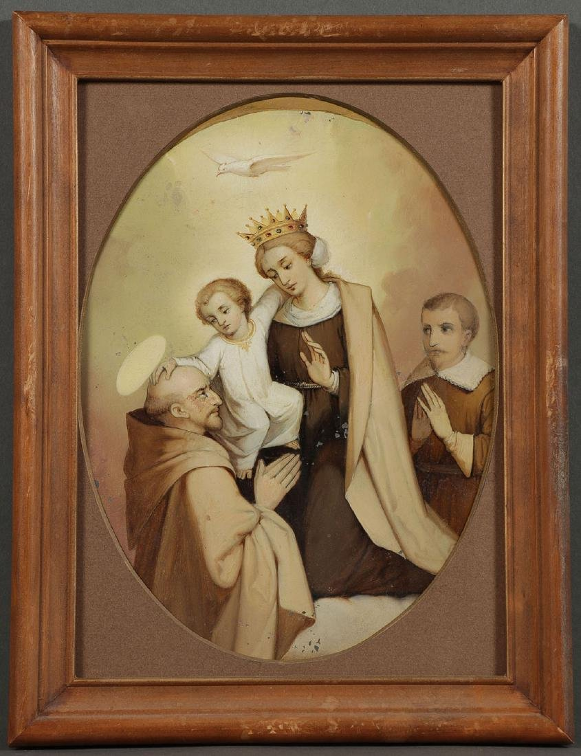 A GROUP OF 3 PAINTINGS DEPICTING SAINTS, 19TH C. - 5