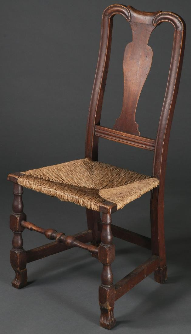 AN EARLY AMERICAN MAPLE SIDE CHAIR, 1730-1770