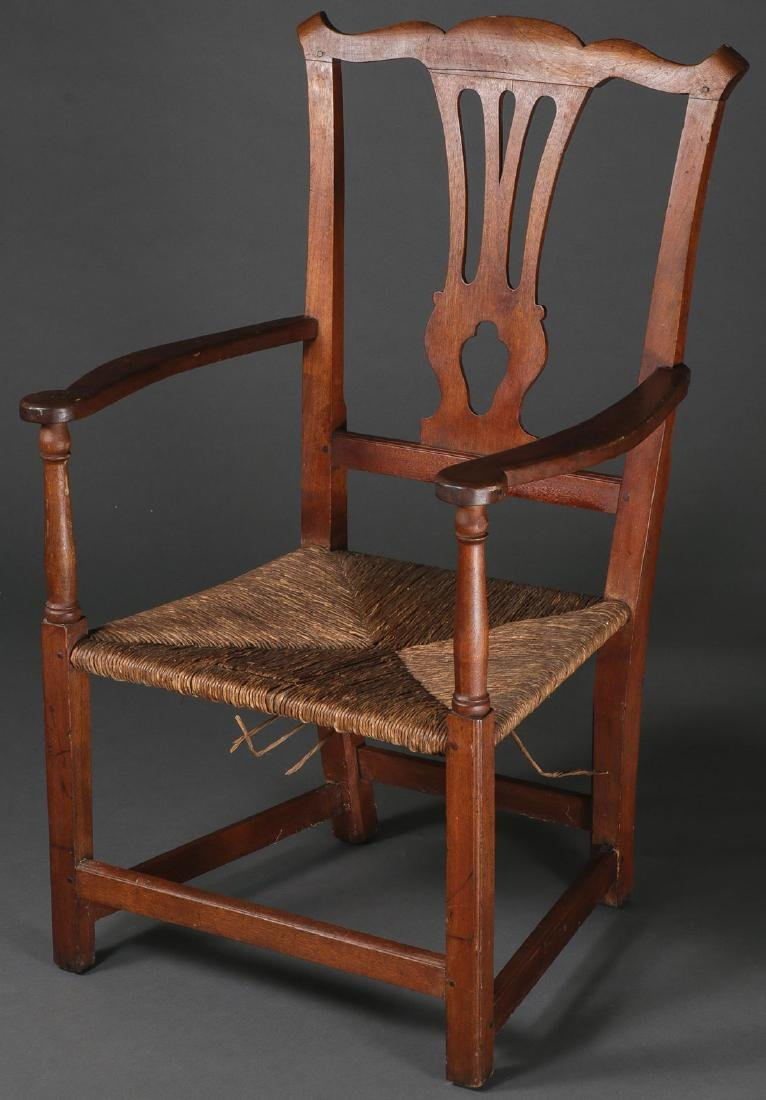A CHIPPENDALE ARMCHAIR, NEW ENGLAND, 1765-1790