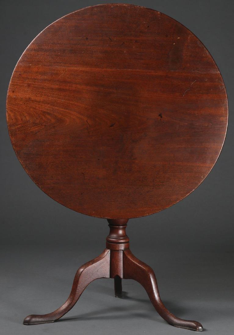 A MAHOGANY TILT TOP TABLE, 18TH C.