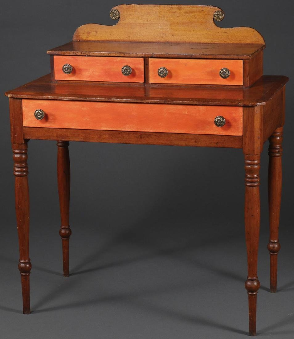 AN INTERESTING THREE DRAWER TIERED STAND, 19TH C.
