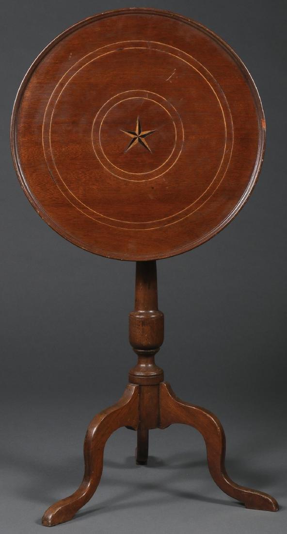 A MAHOGANY TILT STAND AND TABLE, CIRCA 1800-1900