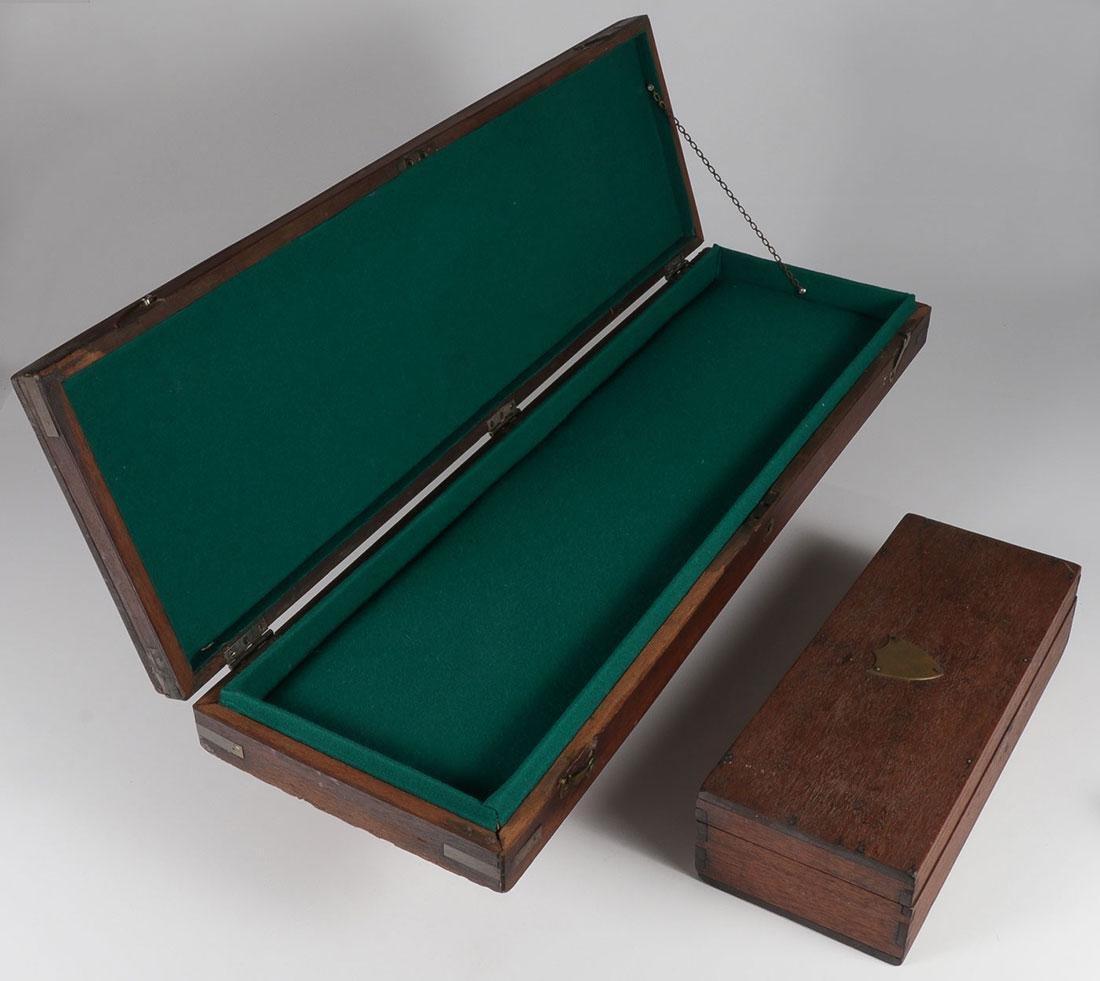A PAIR OF WALNUT GUN CASES, 19TH CENTURY - 2